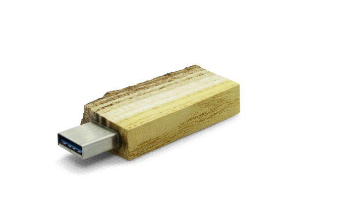 stick USB lemn coaja natur